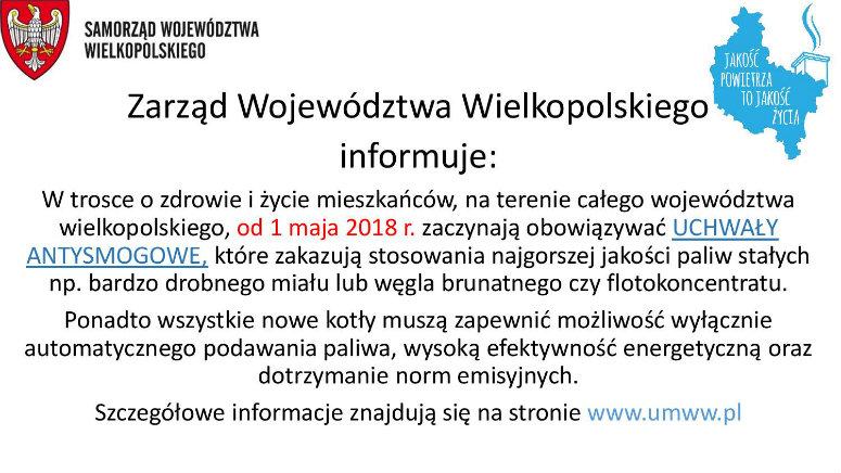 Uchwały antysmogowe dla Wielkopolski