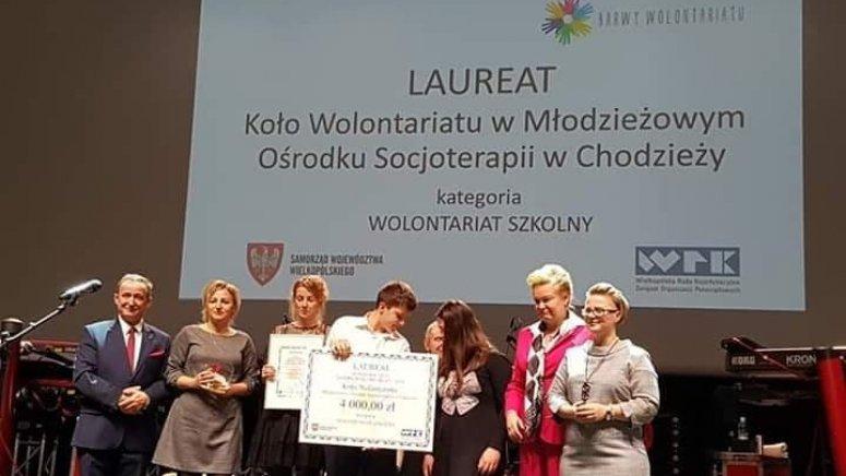 """Wolontariusze z MOS nagrodzeni w """"Barwach Wolontariatu"""""""